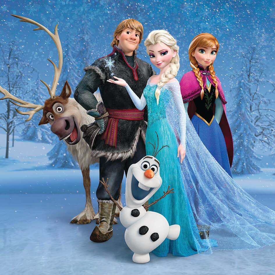Disney Frozen Group 30 x 30cm Canvas Print