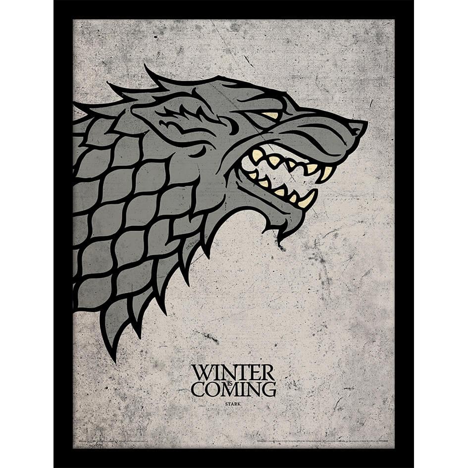 Game of Thrones Stark Framed 30 x 40cm Print