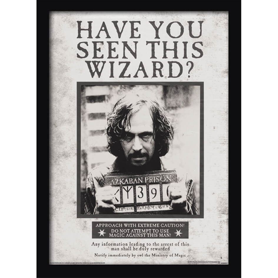 Harry Potter Sirius Wanted Framed 30 x 40cm Print