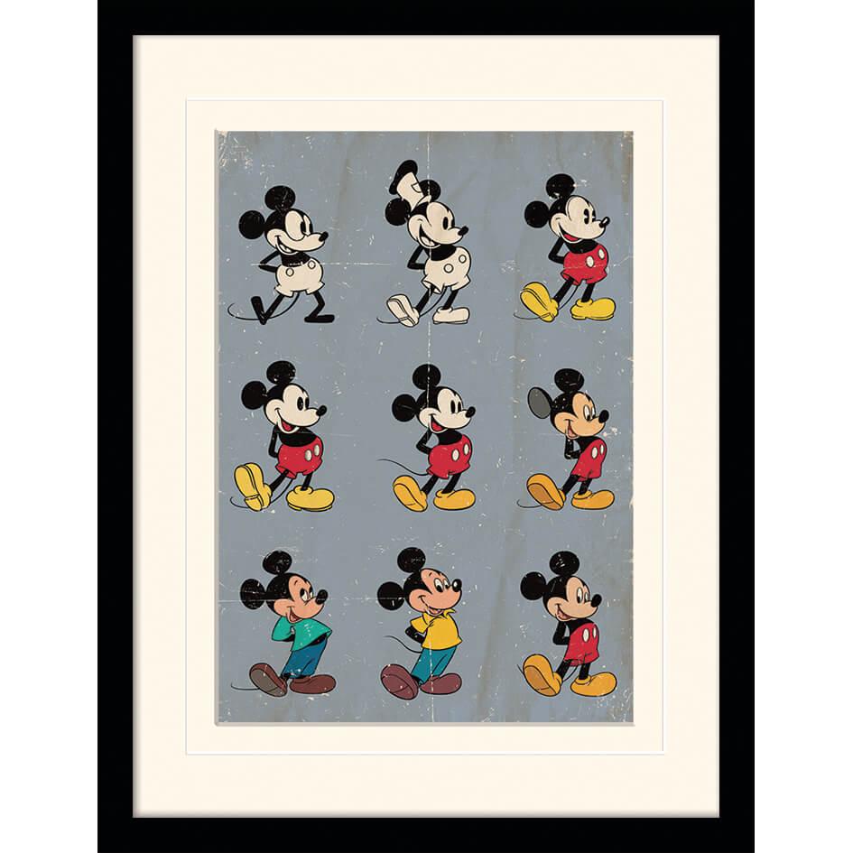 Disney Mickey Mouse Evolution Mounted 30 x 40cm Print
