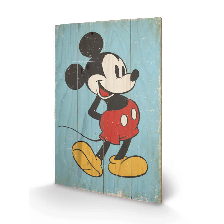 Disney Mickey Mouse Retro 40 x 39cm Wood Print