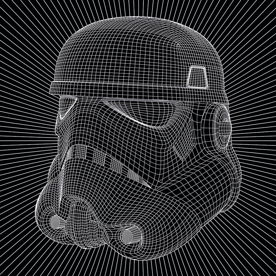 Star Wars Stormtrooper Wire 40 x 40cm Canvas Print