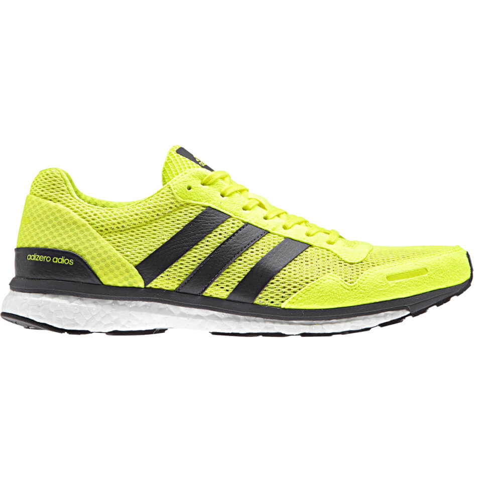 adidas-men-adizero-adios-running-shoes-yellow-us-85-8-yellow