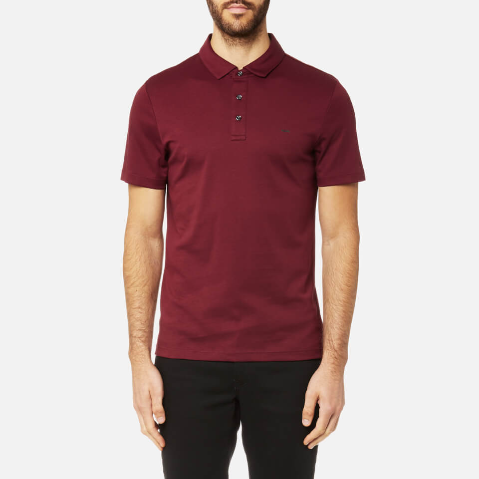 Michael Kors Men s Liquid Jersey Short Sleeve Polo Shirt - Chianti ... e6d02f391