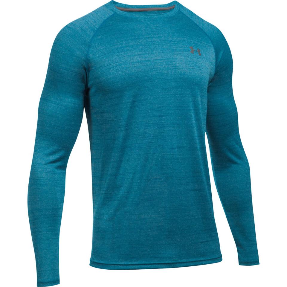 under-armour-men-tech-novelty-long-sleeve-top-blue-m-blue