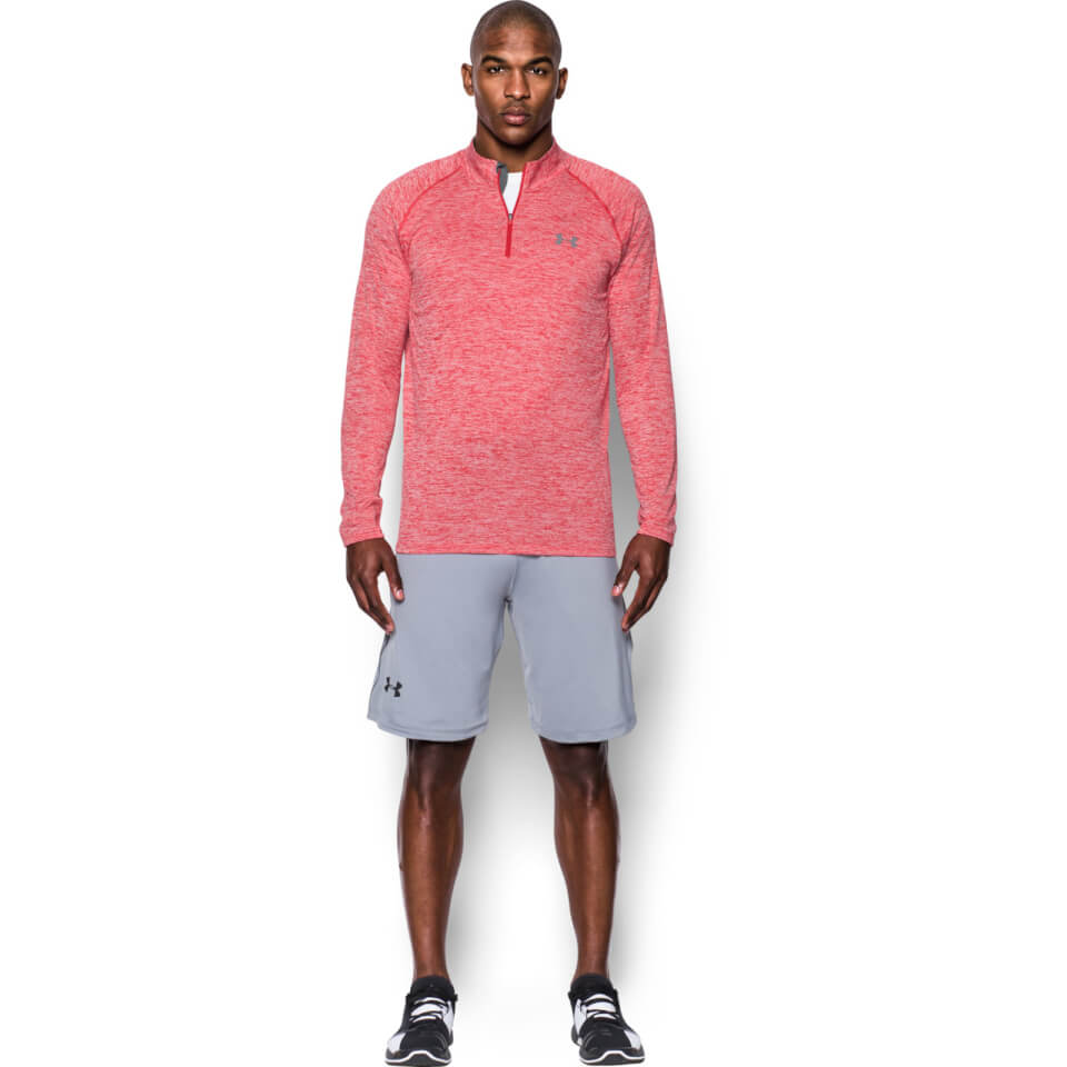under-armour-men-tech-14-zip-long-sleeve-top-red-s-red