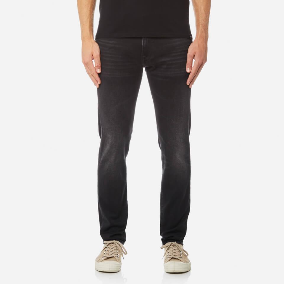 Edwin Mens Ed-85 Slim Tapered Drop Crotch Jeans Goth Black W32/l34