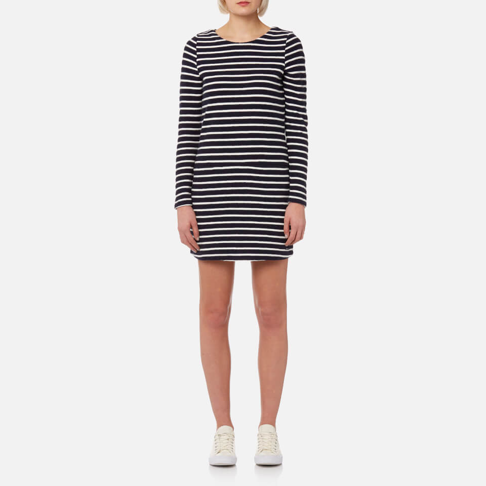 c1cc0ef59e Joules Women s Roya Jersey Jacquard Tunic with Pockets - Cream Stripe  Womens Clothing
