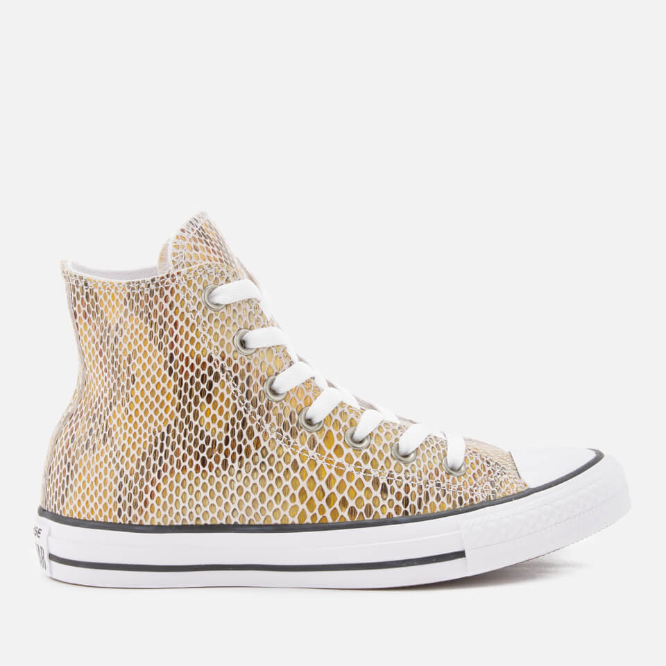 dbee04c10219 Converse Women s Chuck Taylor All Star Hi-Top Trainers - Natural Black White  Clothing