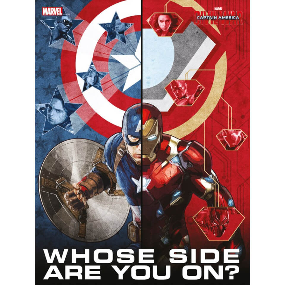 Captain America Civil War Glass Poster Whose Side Are You On (30 x 40cm)