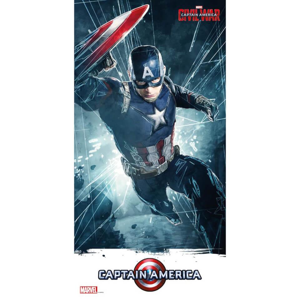 Captain America Civil War Glass Poster Captain America (60 x 30cm)