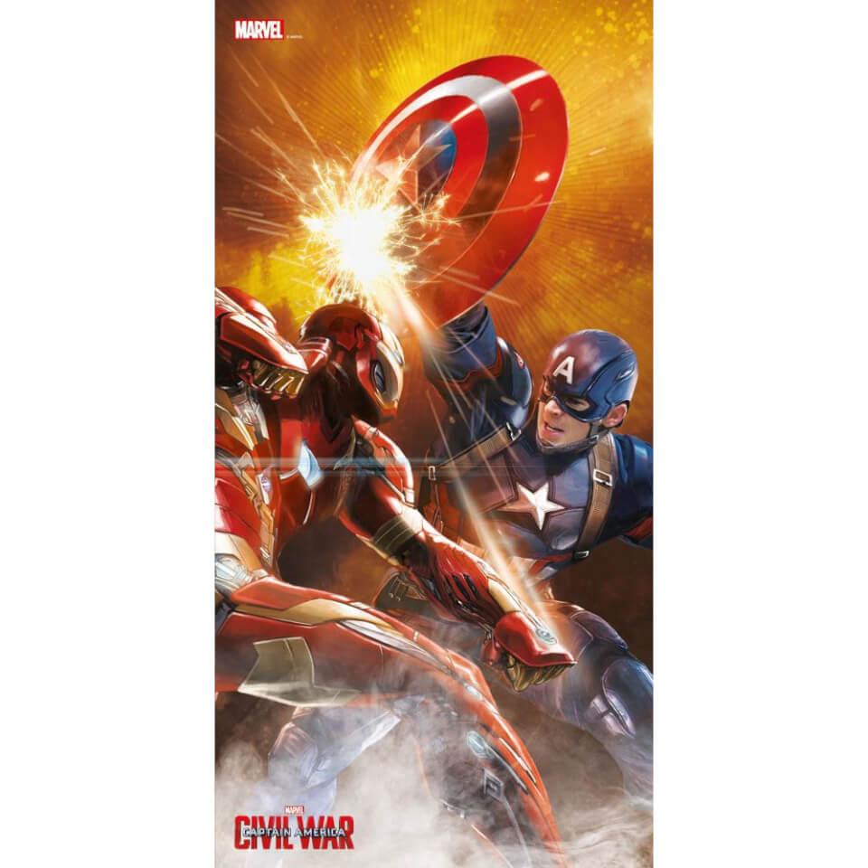 Captain America Civil War Glass Poster Fight Scene (60 x 30cm)