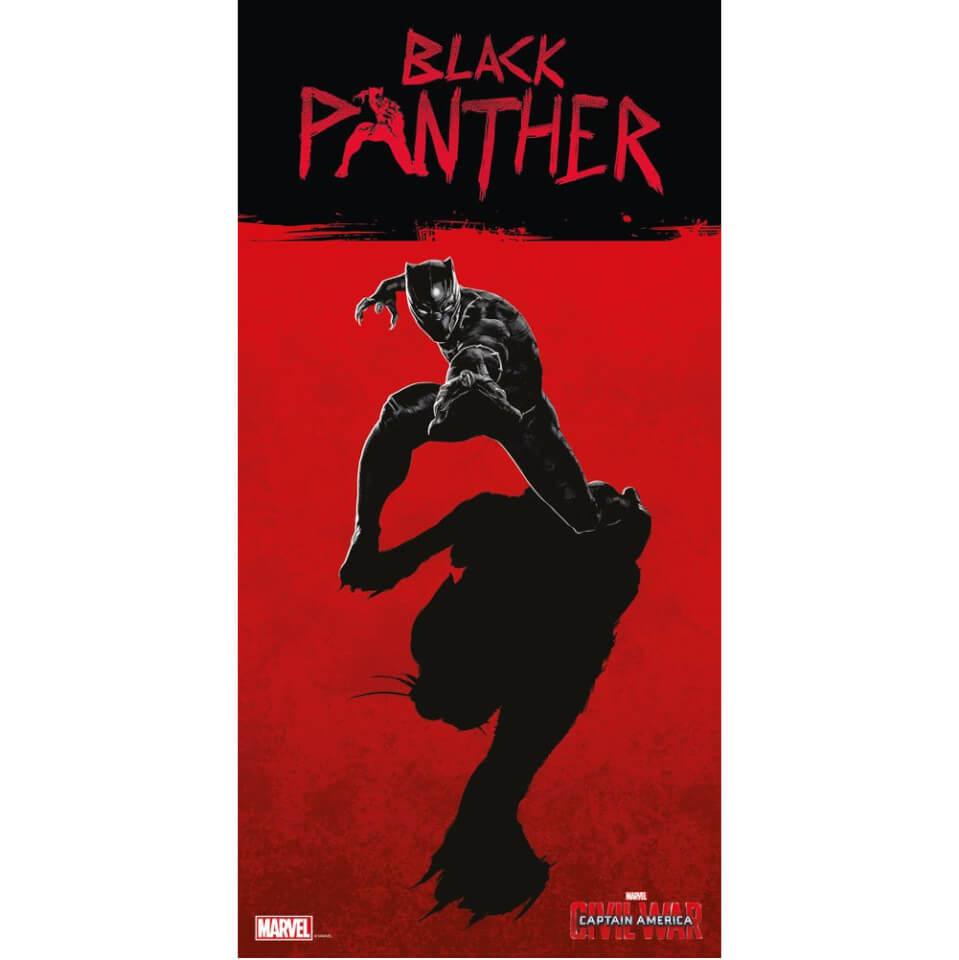 Captain America Civil War Glass Poster Black Panther (60 x 30cm)