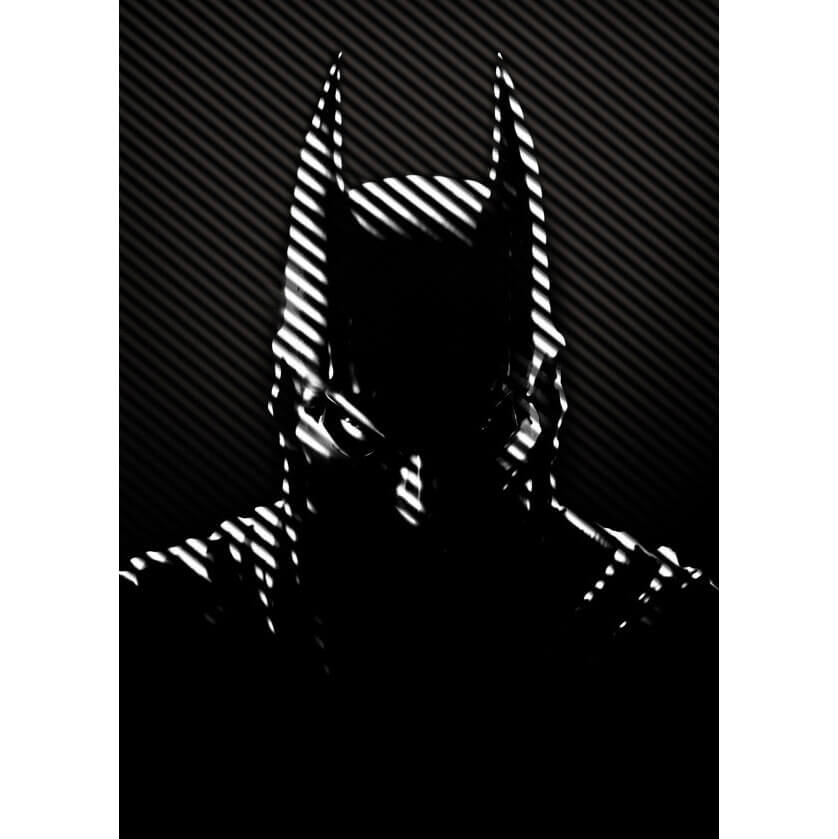 Tin PostersDC Comics Metal Poster - Batman Noir Caped Crusader(32 x 45cm )