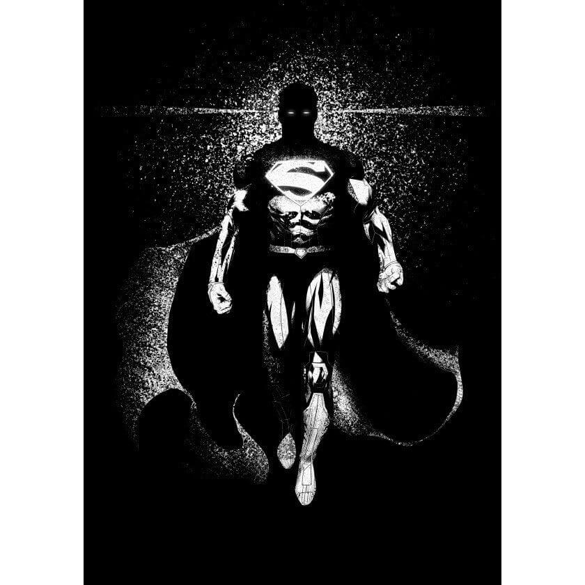 Tin PostersDC Comics Metal Poster - DC Dark Edition Superman(32 x 45cm )
