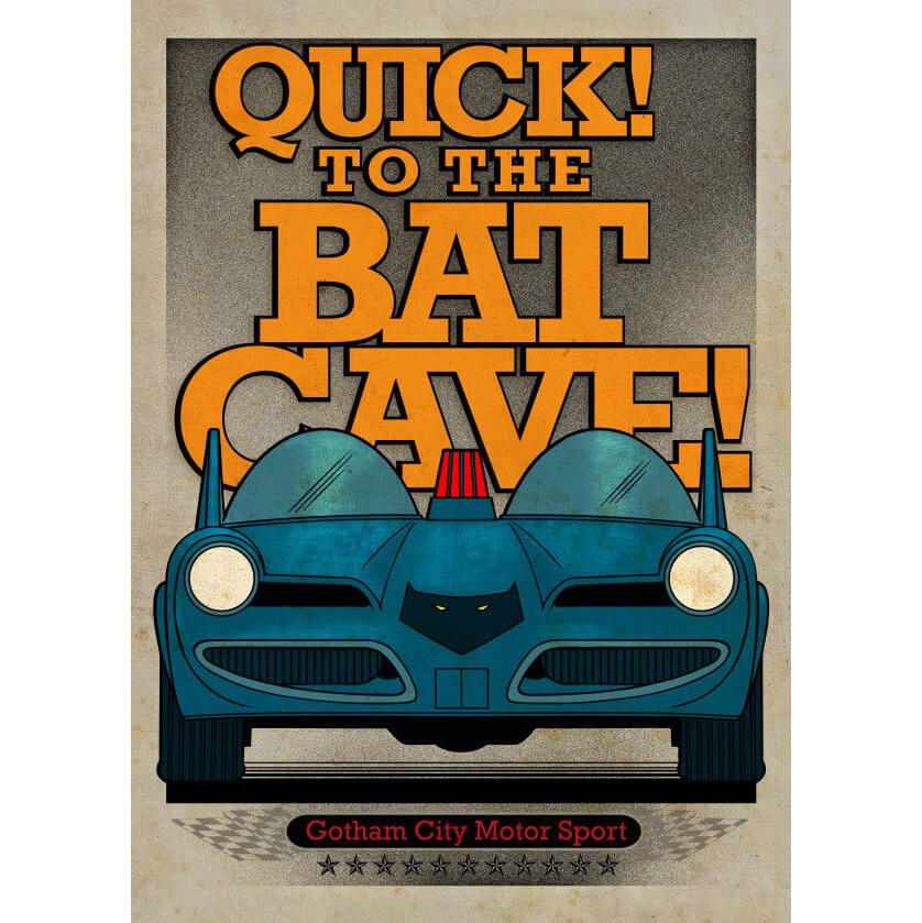 Tin PostersDC Comics Metal Poster - Gotham City Motor Club Batmobile 1966(32 x 45cm )