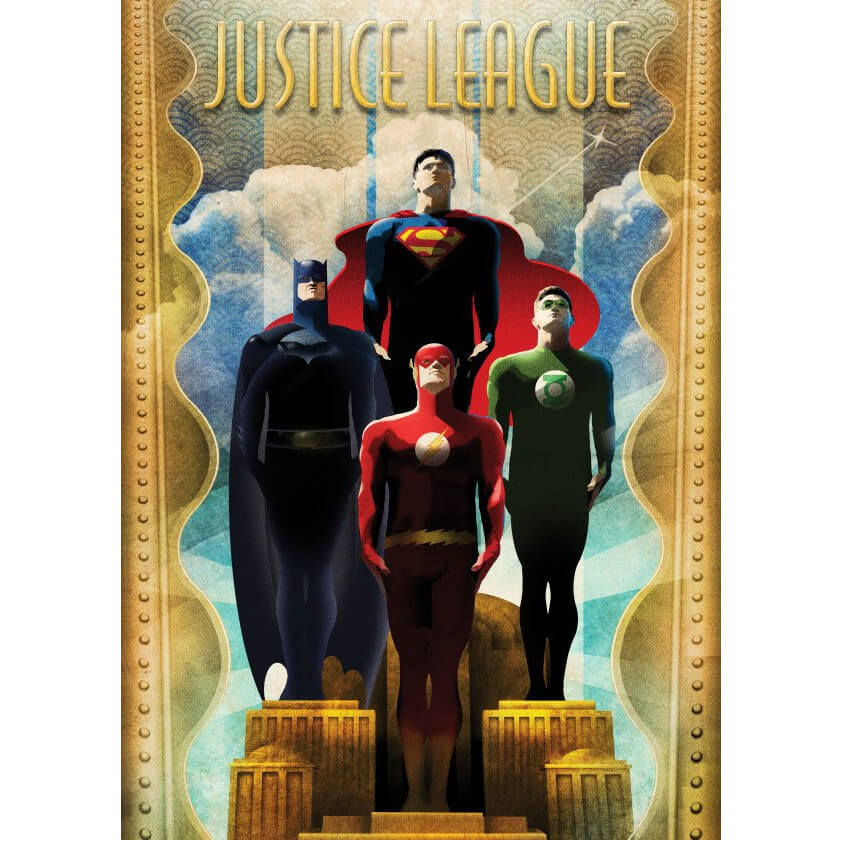 Tin PostersDC Comics Metal Poster - Justice League Retro Idols(32 x 45cm )