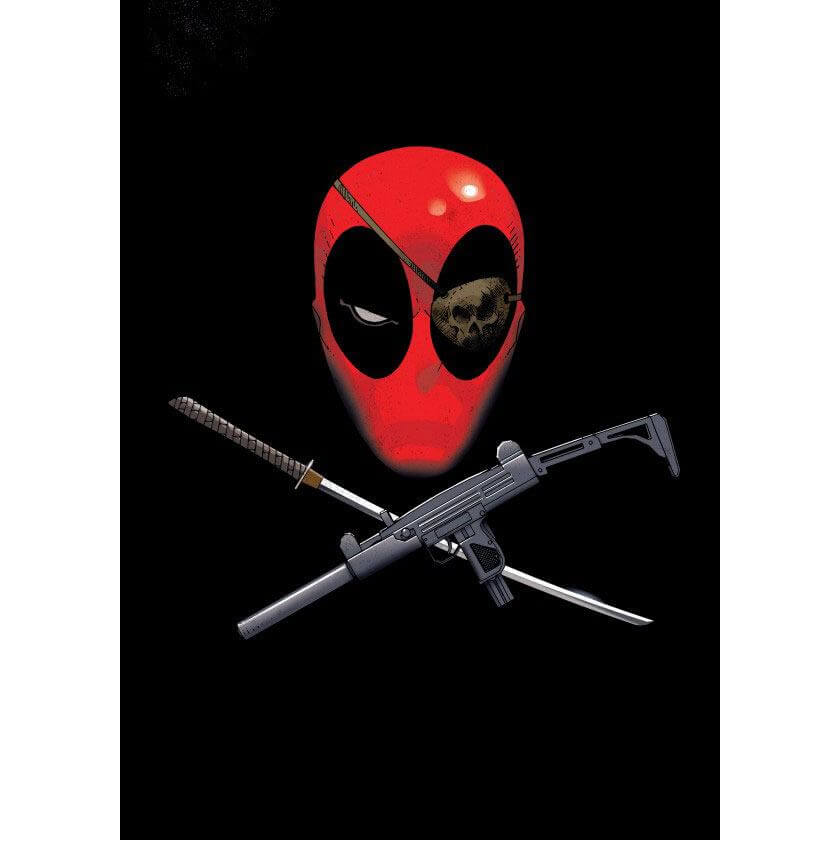 Tin PostersMarvel Comics Metal Poster - Deadpool Merc with a Mouth Piratepool(68 x 48cm )