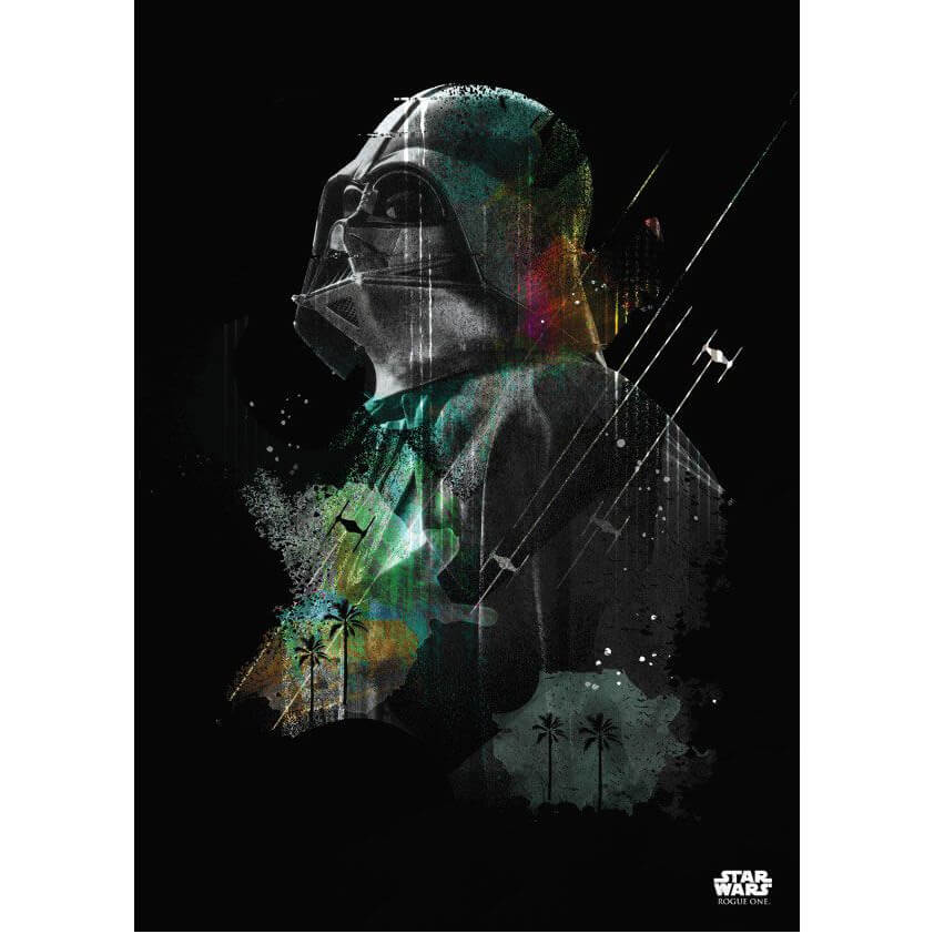 Tin PostersStar Wars Metal Poster - Jammed Transmission Darth Vader(68 x 48cm )