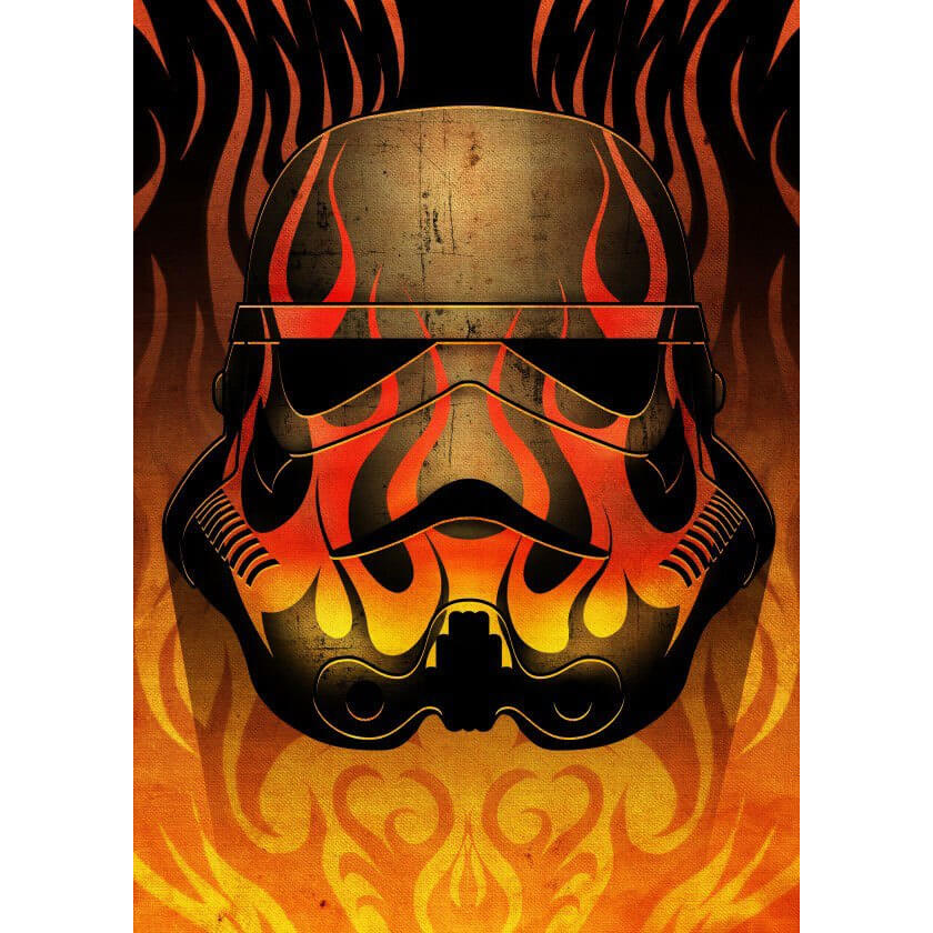 Tin PostersStar Wars Metal Poster - Masked Troopers Flames(68 x 48cm )