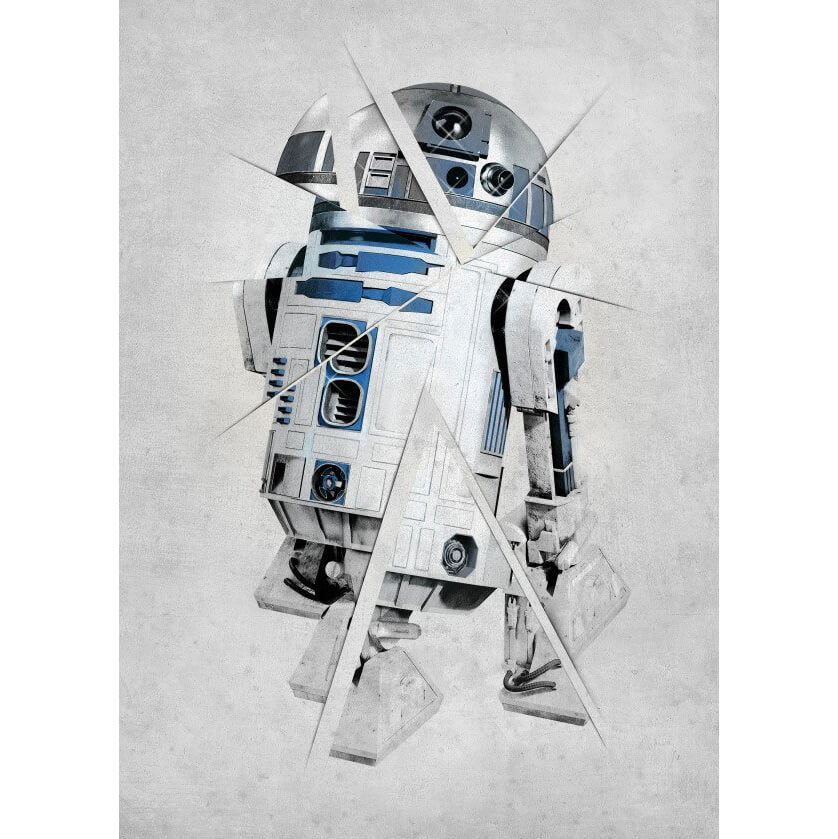 Tin PostersStar Wars Metal Poster - Star Wars Force Sensitive R2 - D2(68 x 48cm )
