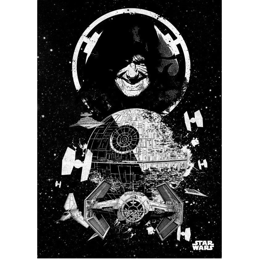 Tin PostersStar Wars Metal Poster - Star Wars Pilots Death Star(68 x 48cm )