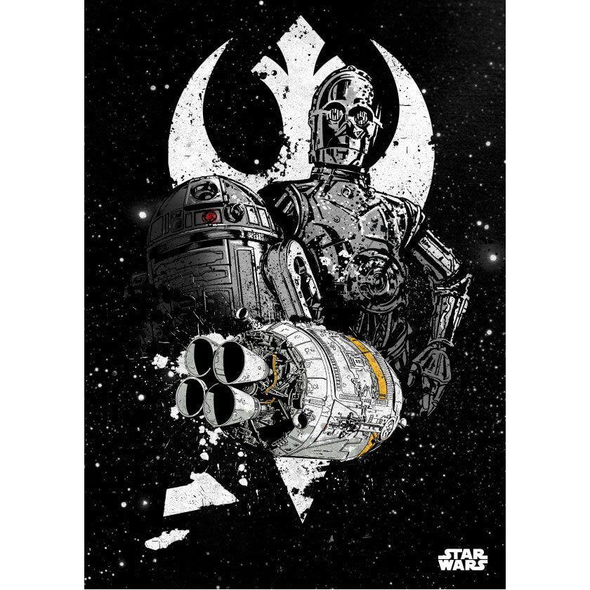 Tin PostersStar Wars Metal Poster - Star Wars Pilots Shuttle(68 x 48cm )