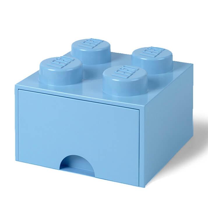 Ladrillo de almacenamiento LEGO (4 espigas) - 1 cajón - Azul real