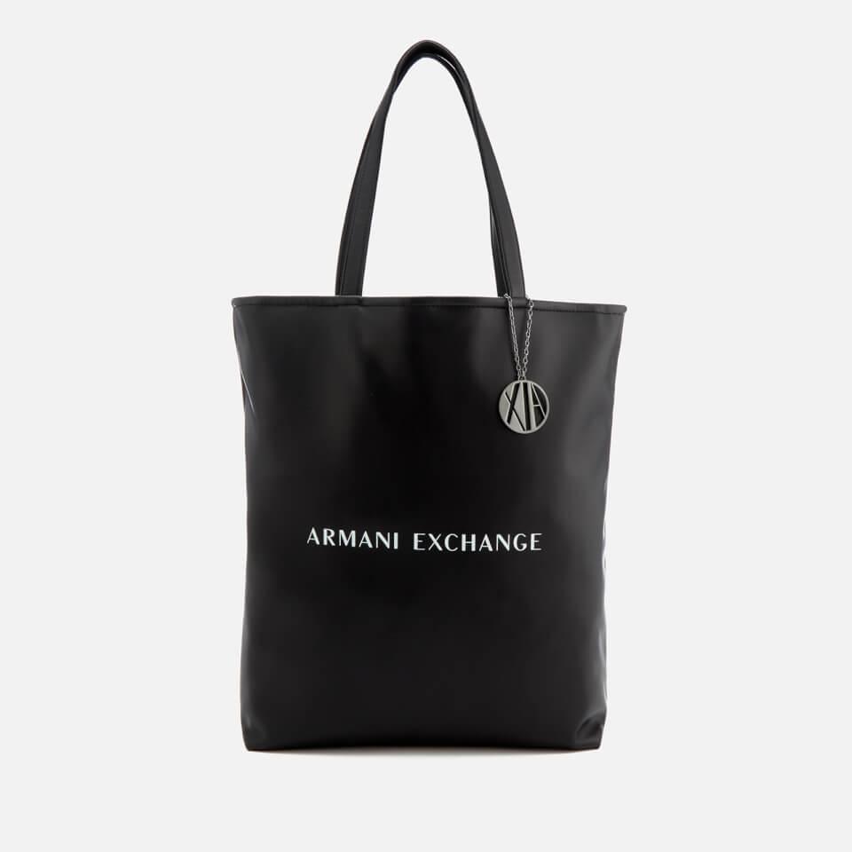 Armani Exchange Women s Reversible Shopping Bag - Black White Clothing  b6f2421b20c95