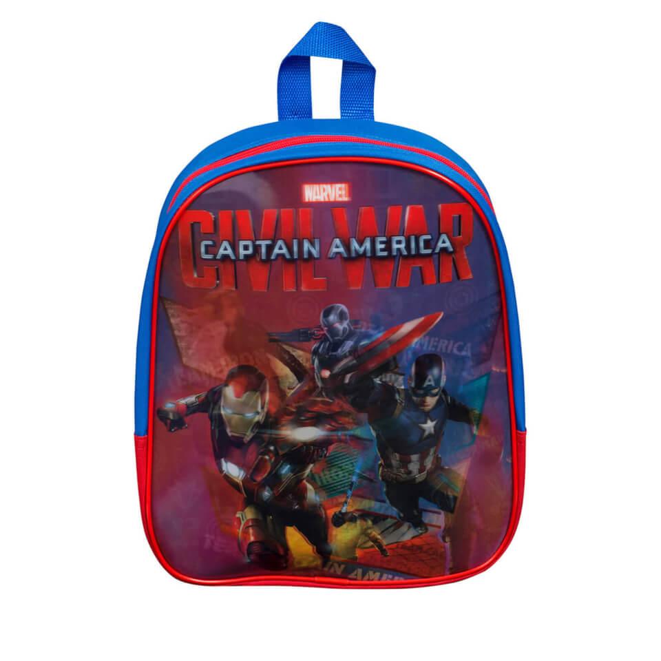 Mochila Marvel Capitán América: Civil War Lenticular - Azul