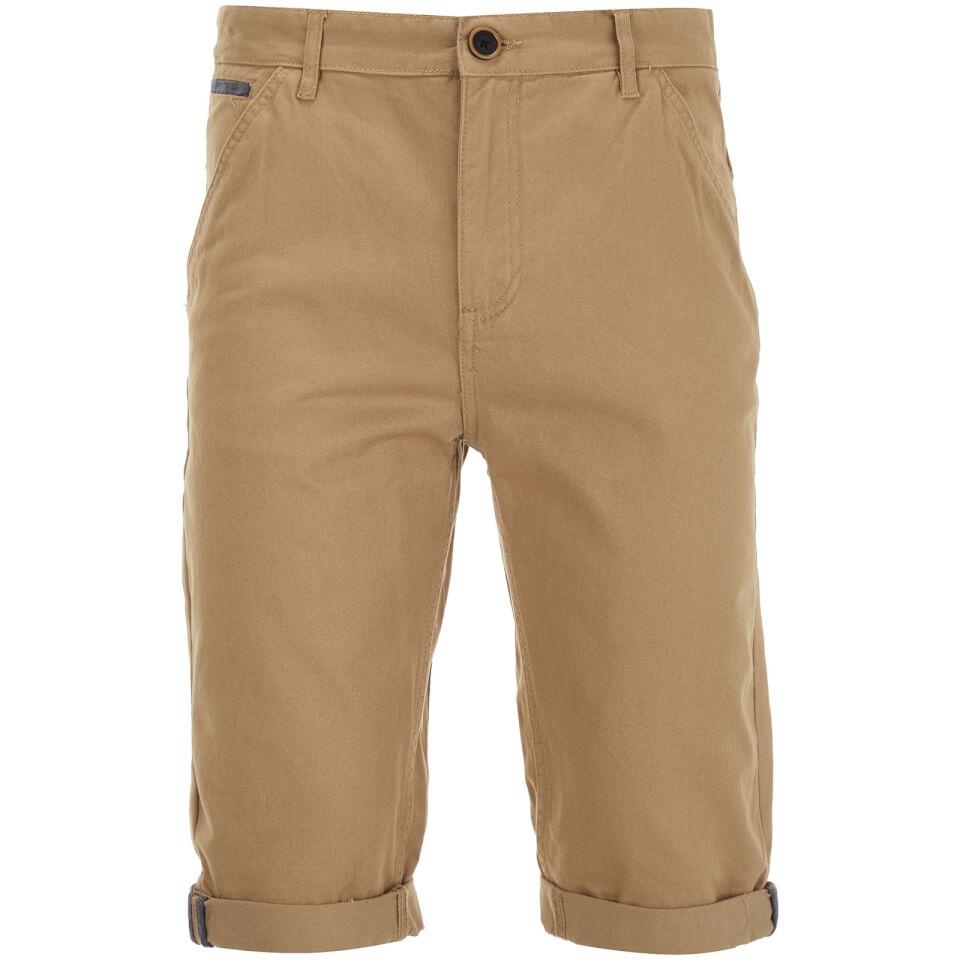 Brave Soul Men's Anderson Shorts - Stone - W30 - Piedra
