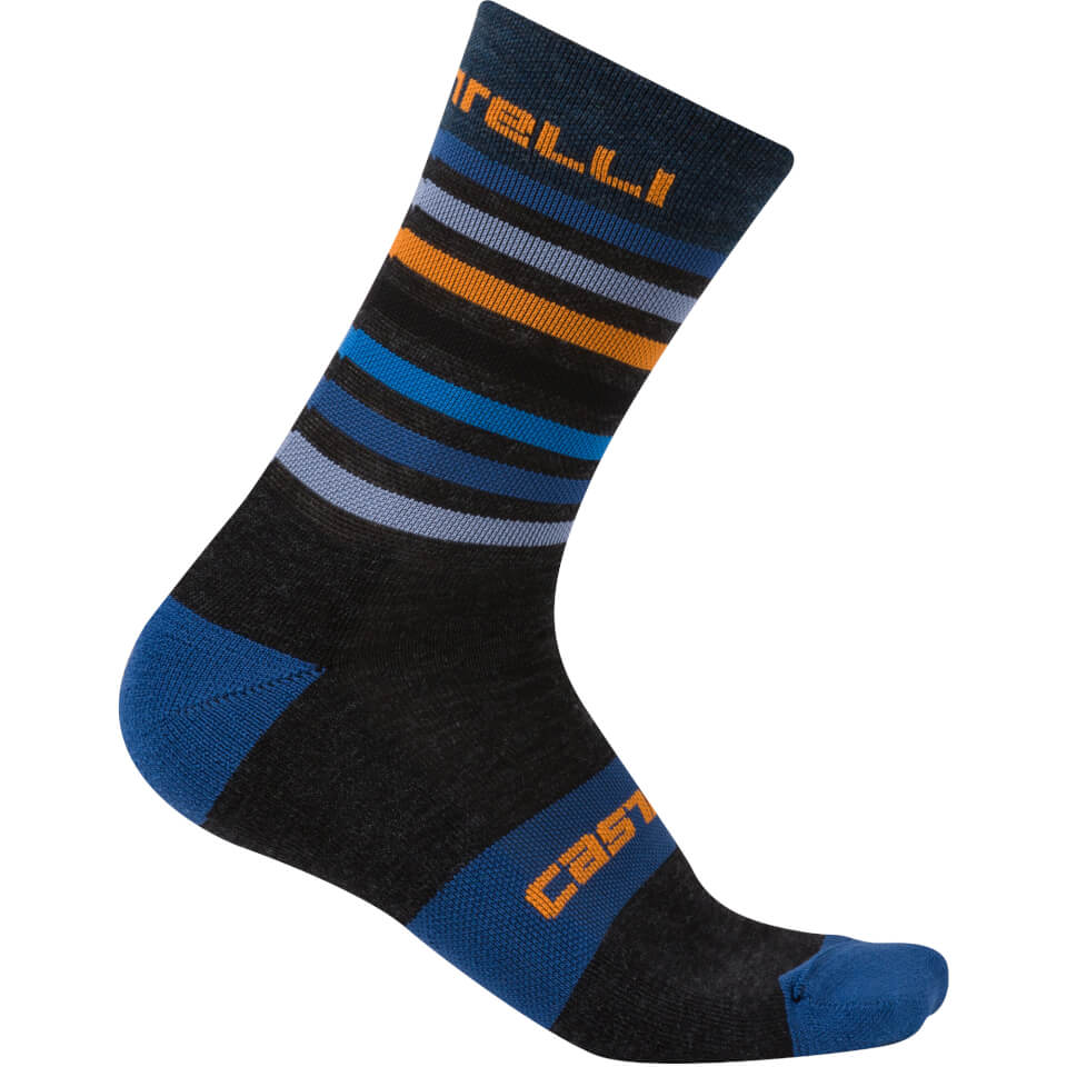 castelli-gregge-15-socks-anthraciteorange-s-m-blackorange