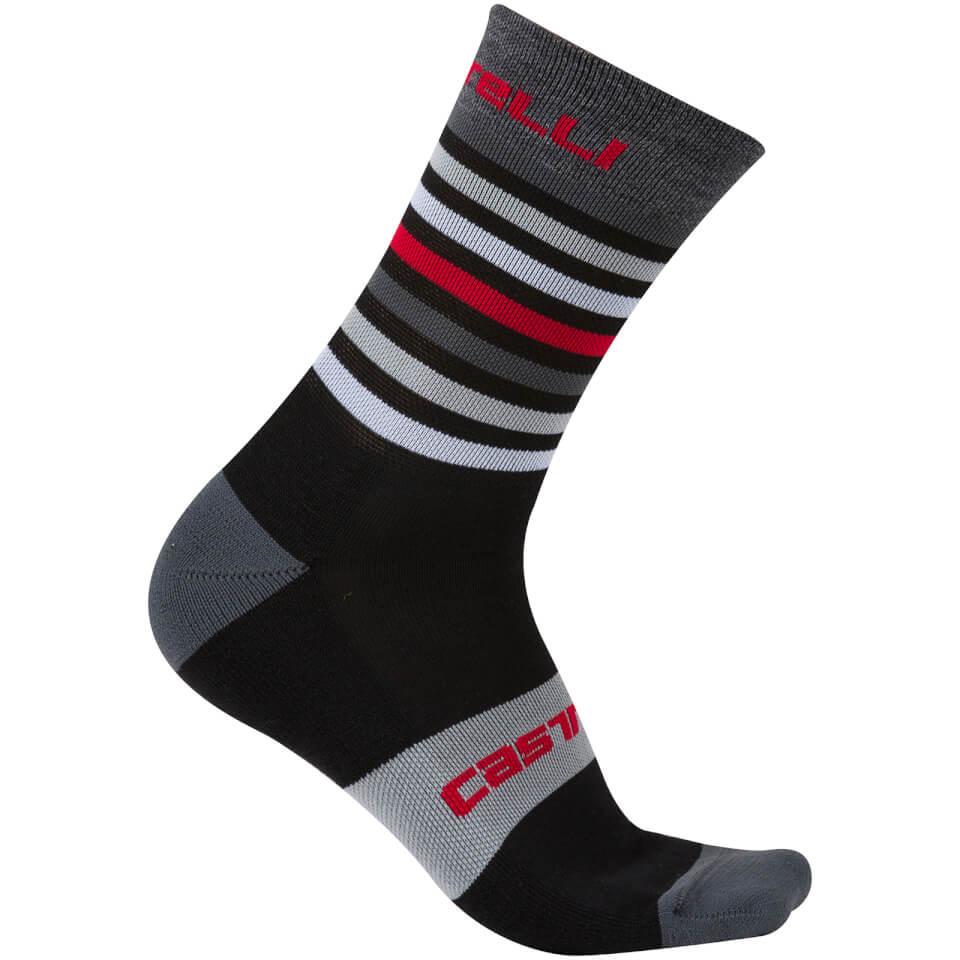 castelli-gregge-15-socks-blackred-l-xl-blackred