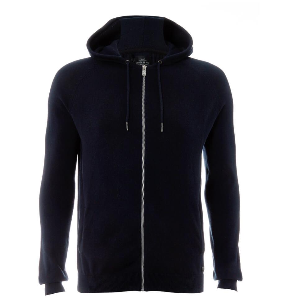 Chaqueta capucha Threadbare Hampton - Hombre - Azul marino - L - azul marino