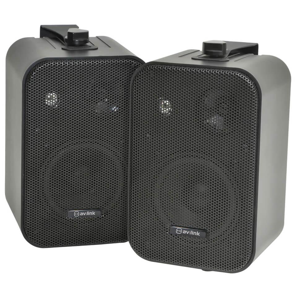 AV Link B30 B Duo Speakers Includes Wall Mounting Brackets Black