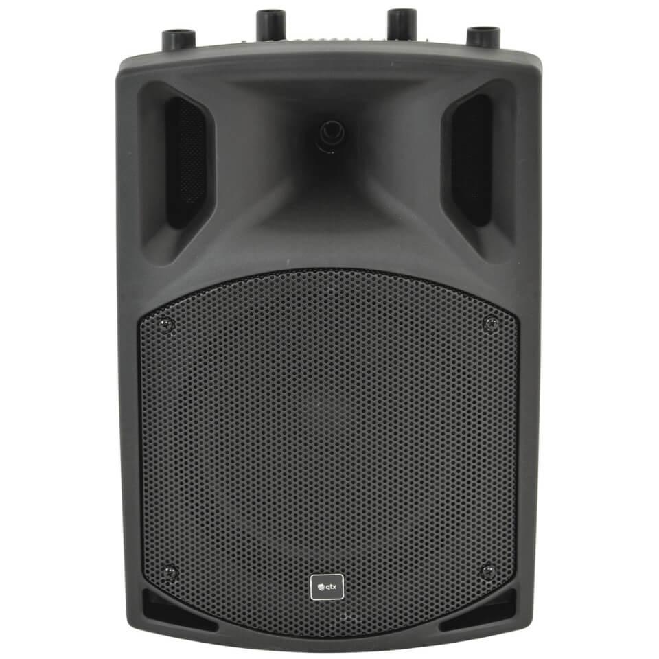 QTX QX10BT Active Moulded Bluetooth Speaker Black (10 Inch Driver)