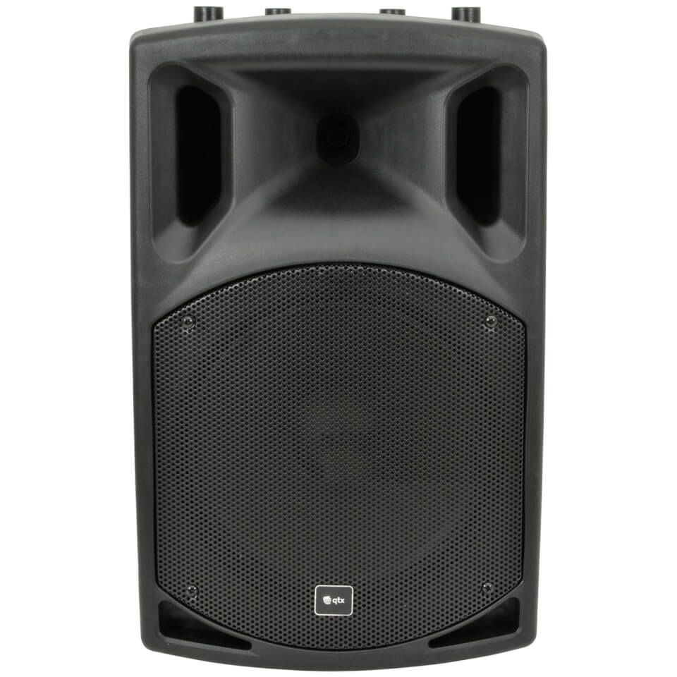 QTX QX12A Active Moulded PA Speaker Black (12 Inch Driver)