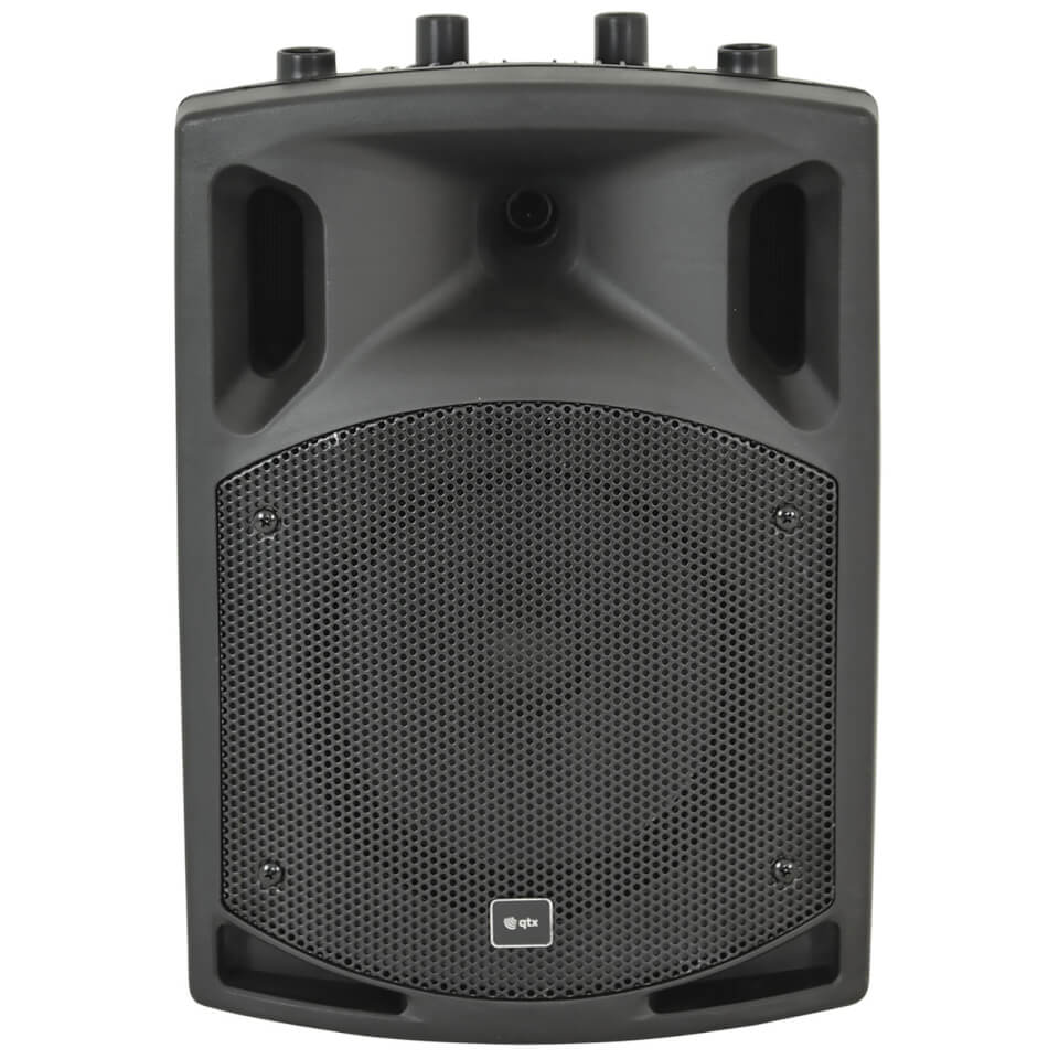 QTX QX8BT Active Moulded Bluetooth Speaker Black (8 Inch Driver)