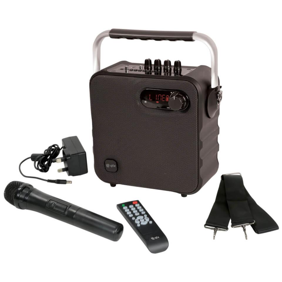 QTX Portable Bluetooth Party Speaker Black