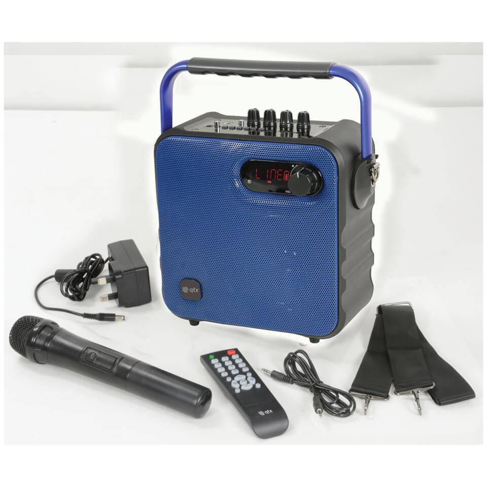 QTX Portable Bluetooth Party Speaker Blue
