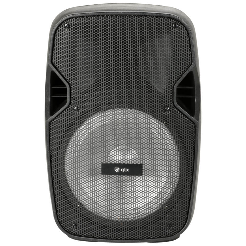 QTX PAL8 Portable 30W Bluetooth PA System with LED Light Show (USB/SD/FM/1x Mic)