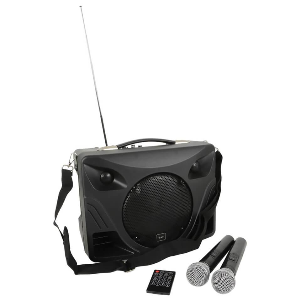 QTX DELTA 50 Handheld Portable Bluetooth 50W PA System (USB SD FM 2x Mic Remote)