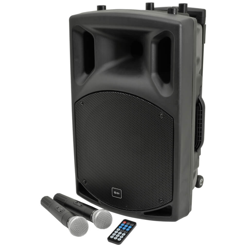 QTX QX12PA Portable Bluetooth PA System Black (USB SD FM 12 Inch Driver)