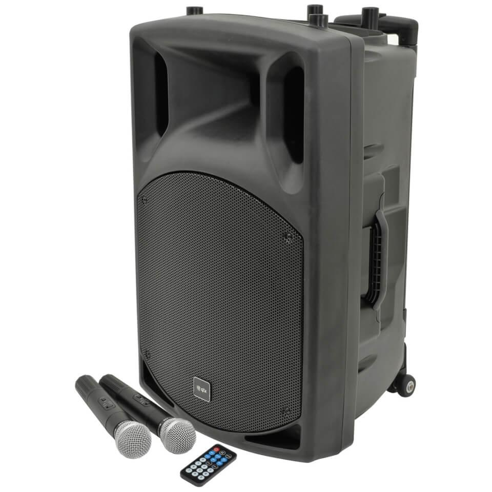 QTX QX15PA Portable Bluetooth PA System Black (USB SD FM 15 Inch Driver)