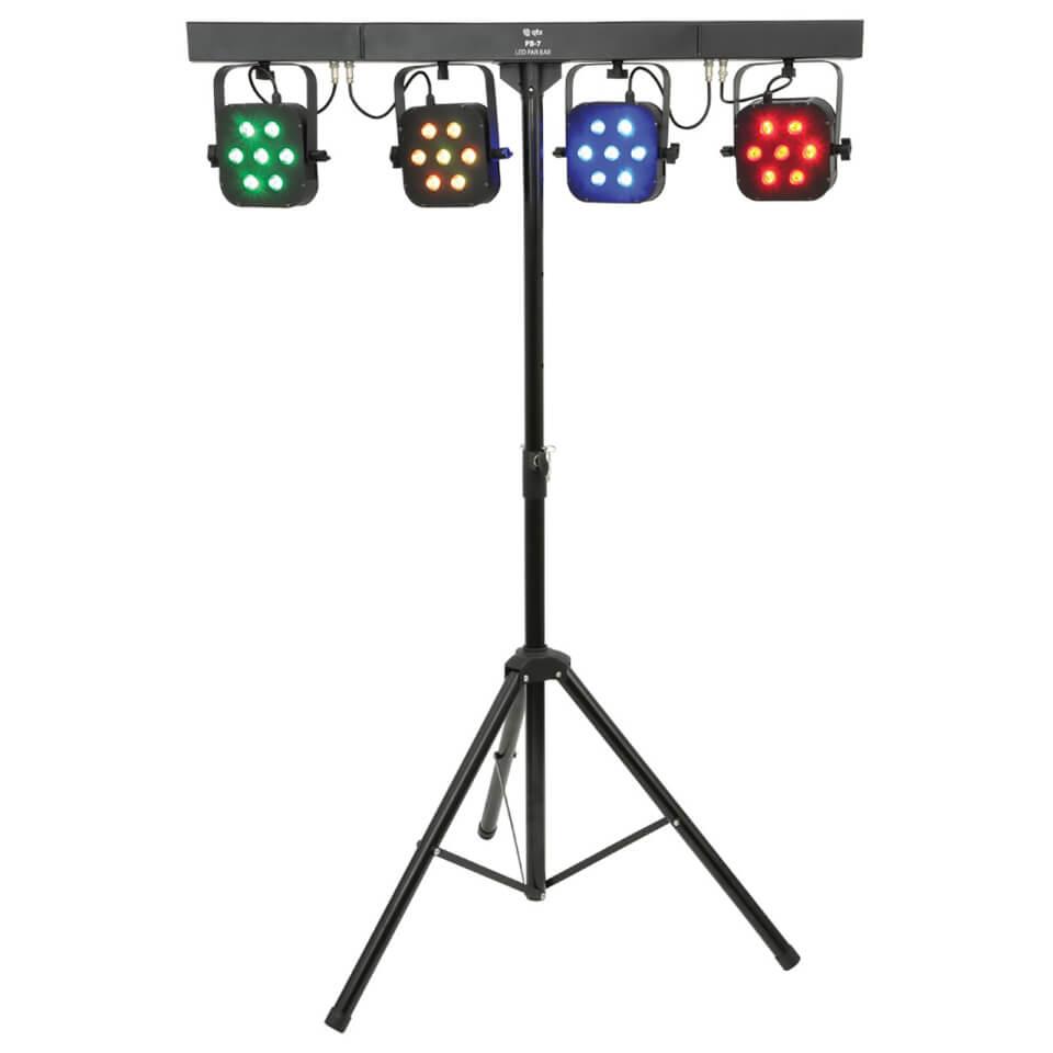 QTX PB-7 High Power Foldable LED Par Bar Disco Light