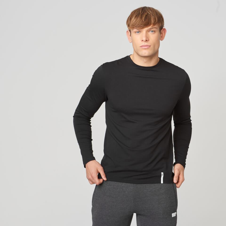 Myprotein Luxe Classic Long Sleeve Crew - Black - M - Black