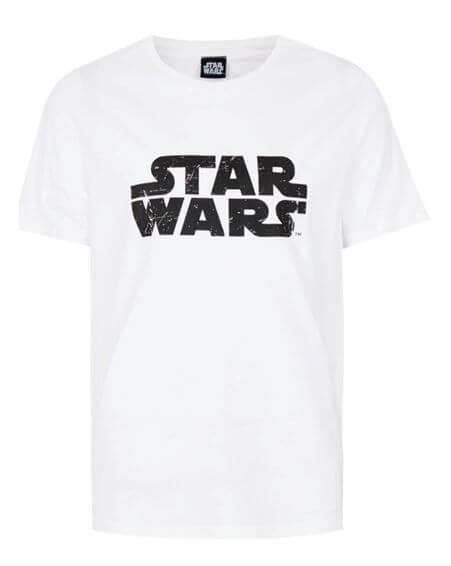 Star Wars Galaxy Logo T Shirt Weiß XXL Weiß