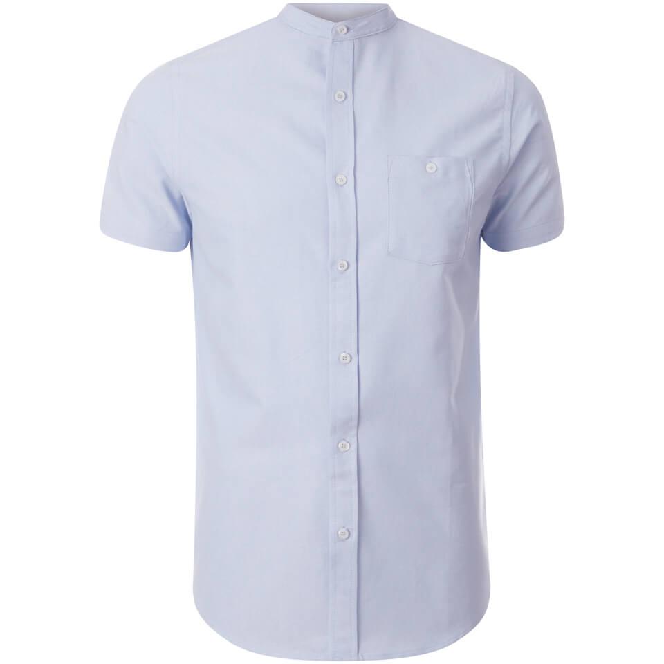 Brave Soul Men's Tribune Short Sleeve Shirt - Light Blue - M - Azul