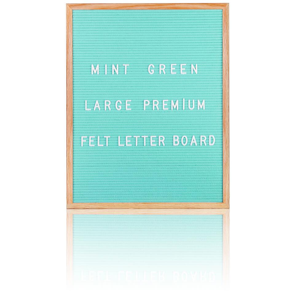 Large premium felt letter board mint green iwoot for Giant letter board