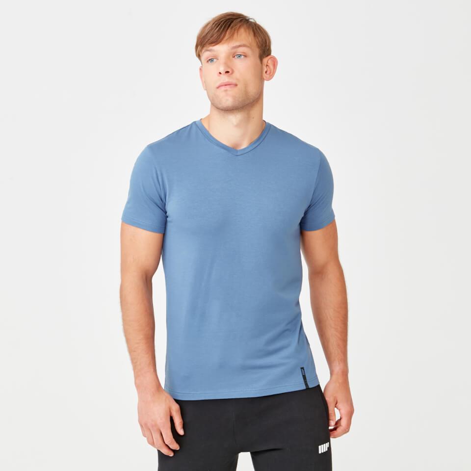 Camiseta Luxe Con Cuello V - XS - Azul